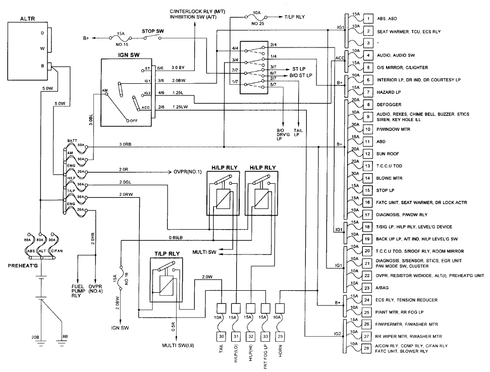 daewoo cielo engine diagram