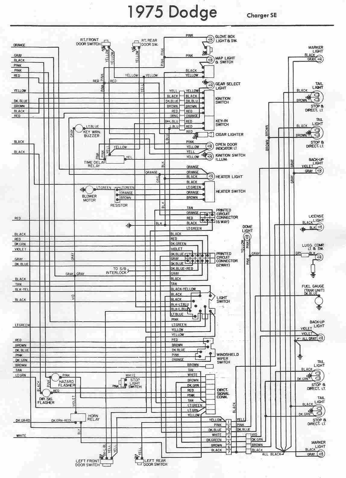 wiring diagram 1974 dodge 100 wiring diagram mega1973 charger wiring diagram 19 [ 1148 x 1584 Pixel ]
