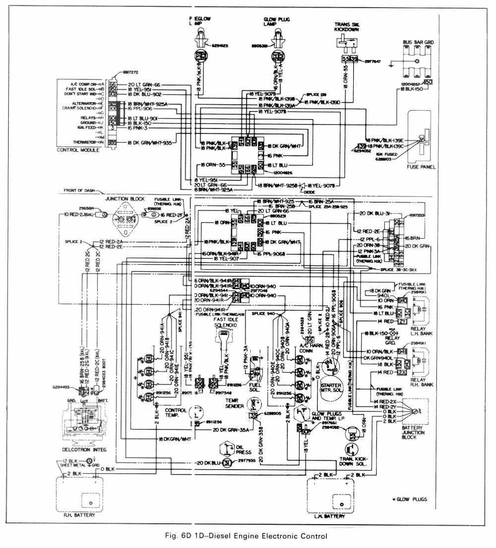 medium resolution of diesel engine electronic control circuit diagram of 1979 gmc light duty truck series 10 35
