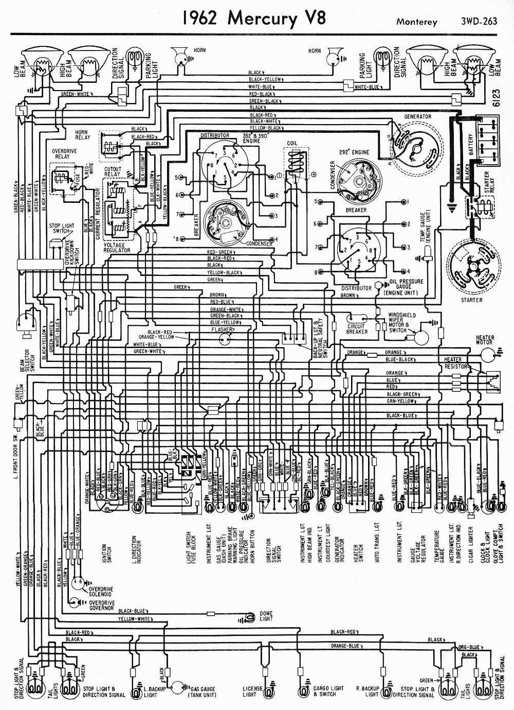 medium resolution of 1962 ford galaxie color wiring diagram mercury zephyr 1950 ford wiring diagram wiring diagram ford 1936