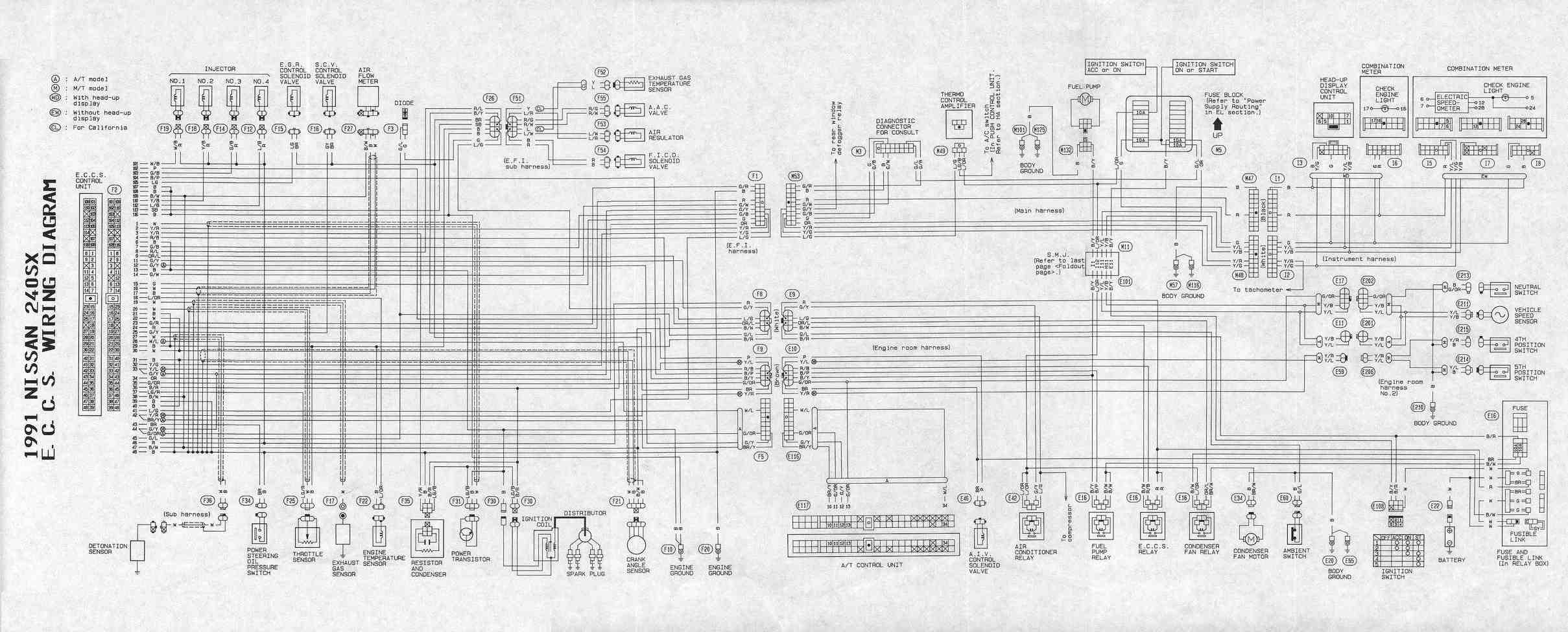 nissan 240sx ka24de wiring harness simple wiring schema 95 nissan pickup wiring diagram nissan 240 wiring harness diagram [ 2418 x 976 Pixel ]