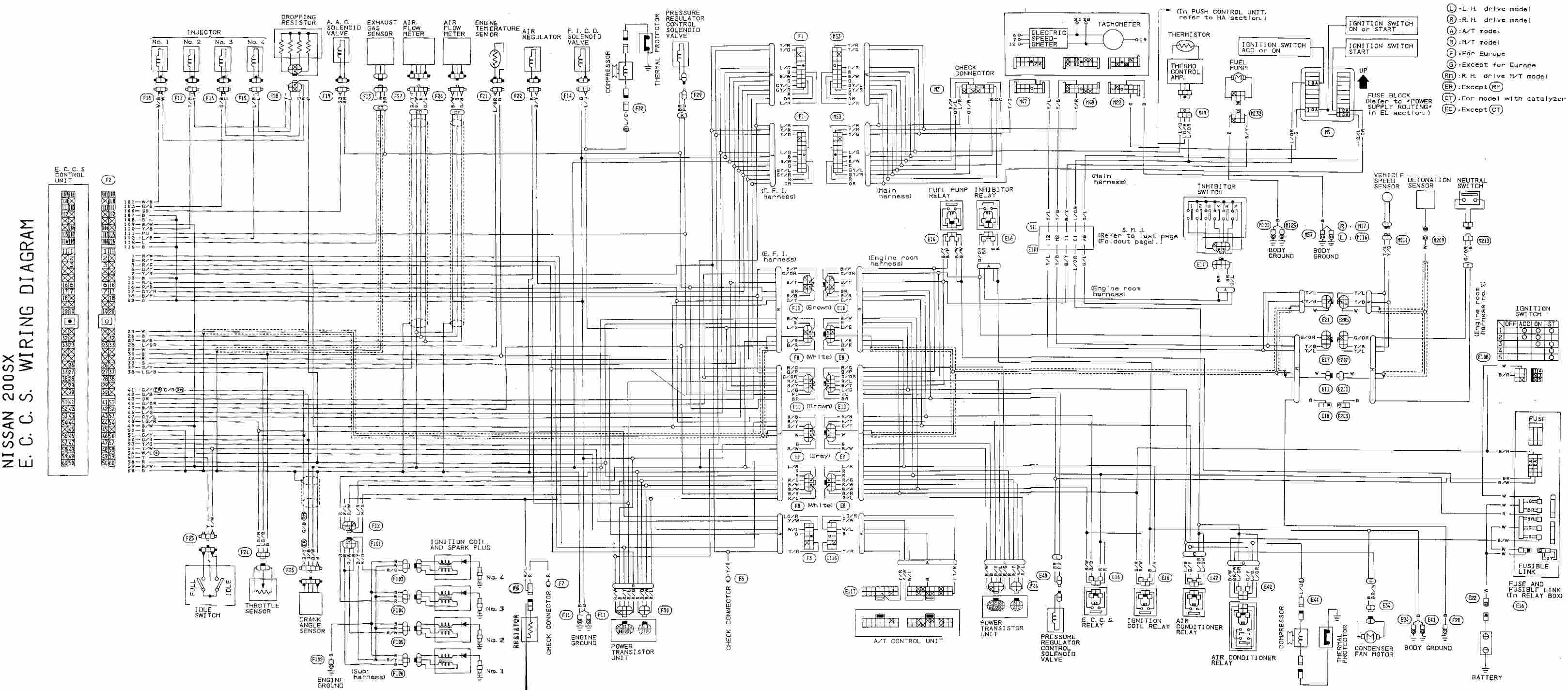 1996 nissan 200sx radio wiring diagram 1996 subaru svx