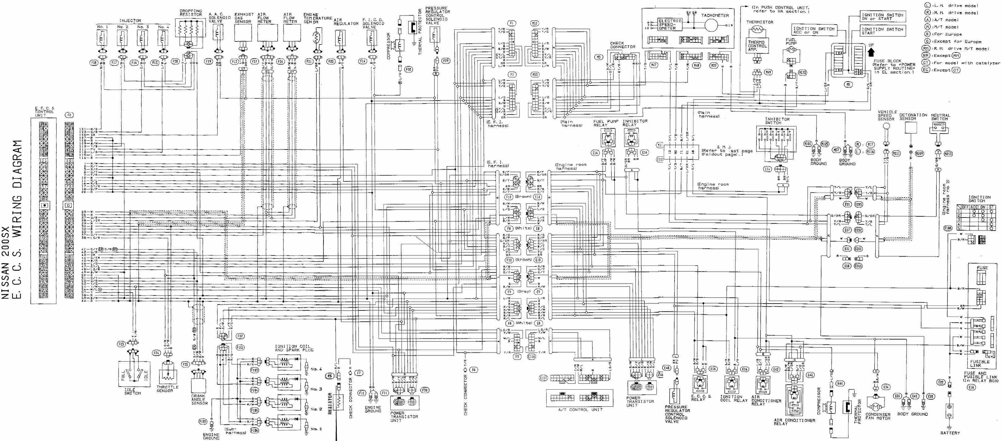 Diagram Wiring 1995 240sx