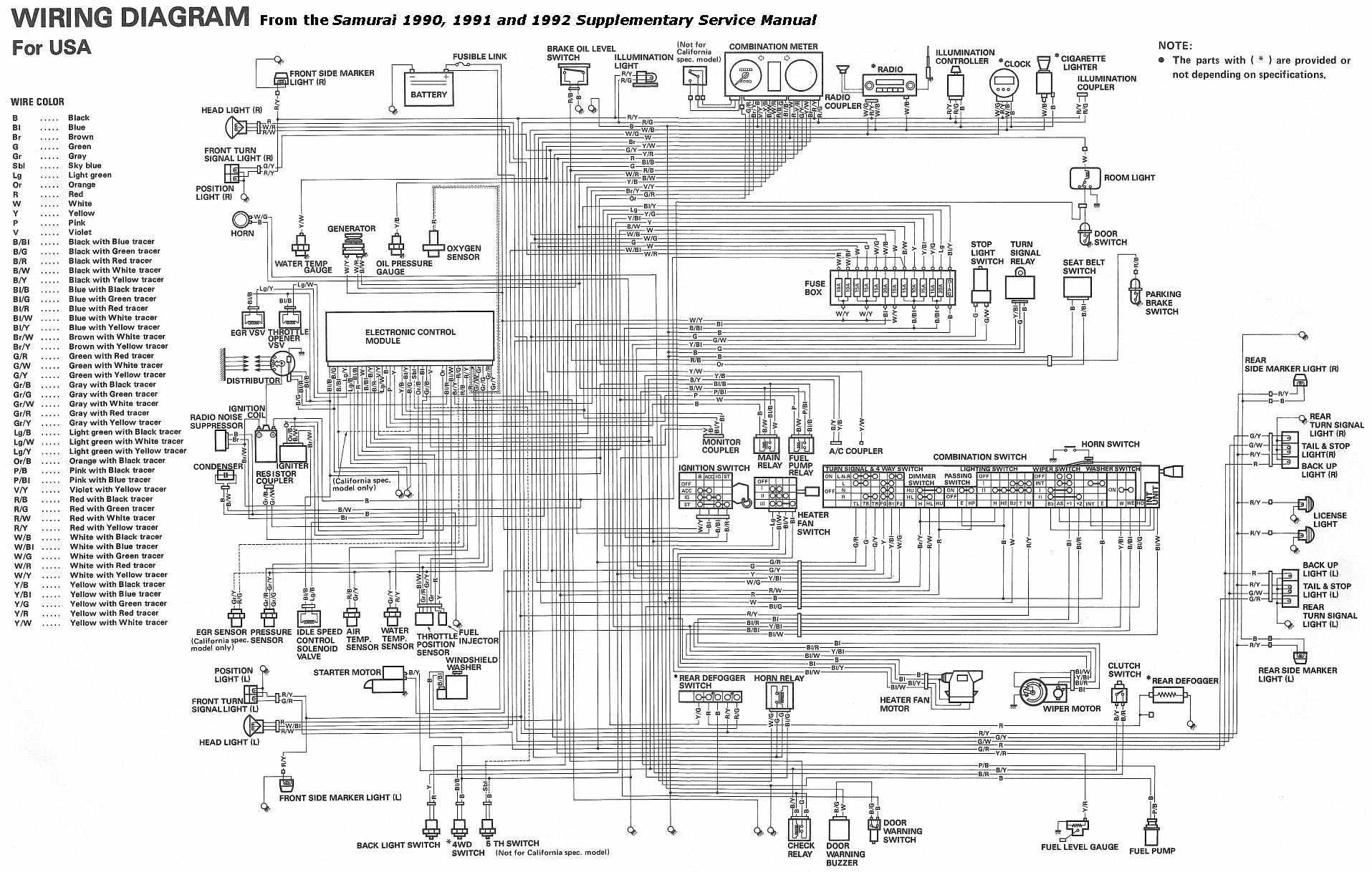 complete electrical wiring diagram of 1990 1992 suzuki samurai?resize=665%2C423&ssl=1 tail light wiring diagram 1995 chevy truck wiring diagram,1990 Chevy 1500 Tail Light Wiring Diagram