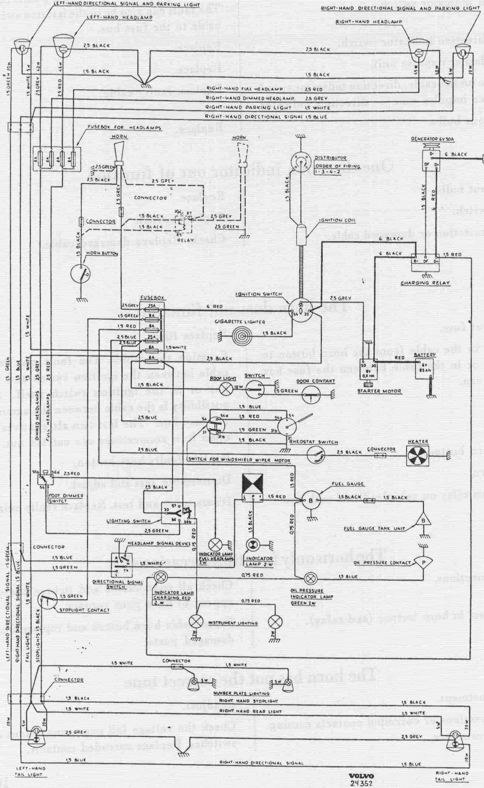 complete wiring diagram of volvo pv544 [ 1593 x 2593 Pixel ]