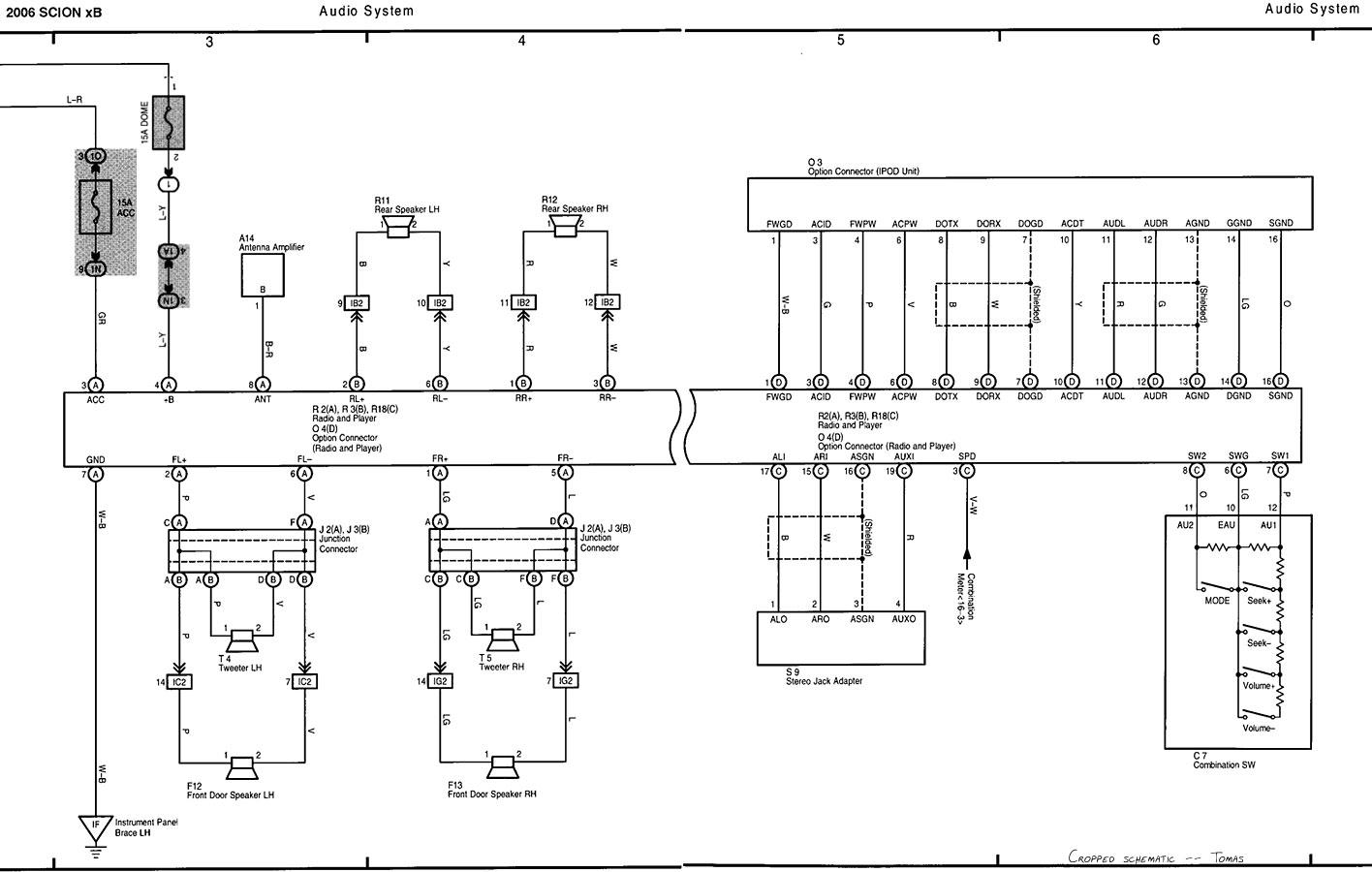 scion tc wiring diagram wiring diagrams show 2005 Scion tC Stereo Wiring Diagram