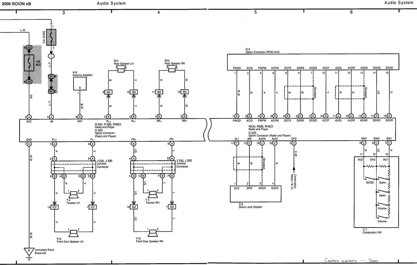 scion xd fuse diagram control cables wiring diagram 2008 ford mustang wiring diagram 2006 scion [ 1416 x 900 Pixel ]