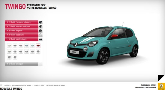 iaa 2011 configurez votre new twingo automotive marketing. Black Bedroom Furniture Sets. Home Design Ideas