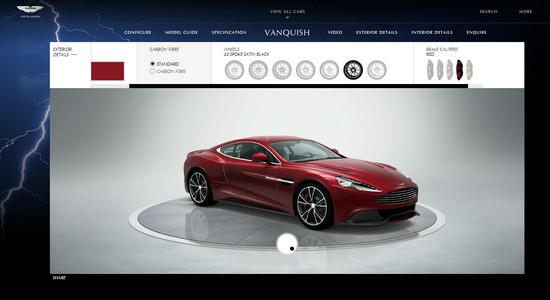 aston martin vanquish vous pouvez d j la configurer automotive marketing. Black Bedroom Furniture Sets. Home Design Ideas