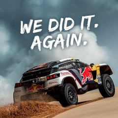 Peugeot au Dakar : We love dust… we love victory!
