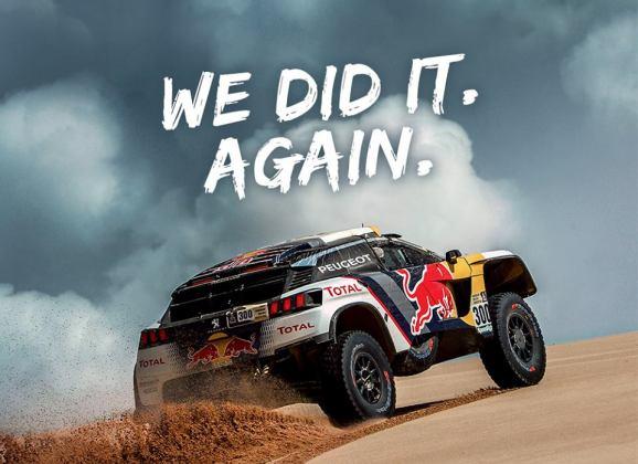 Peugeot au Dakar : We love dust… we love victory!