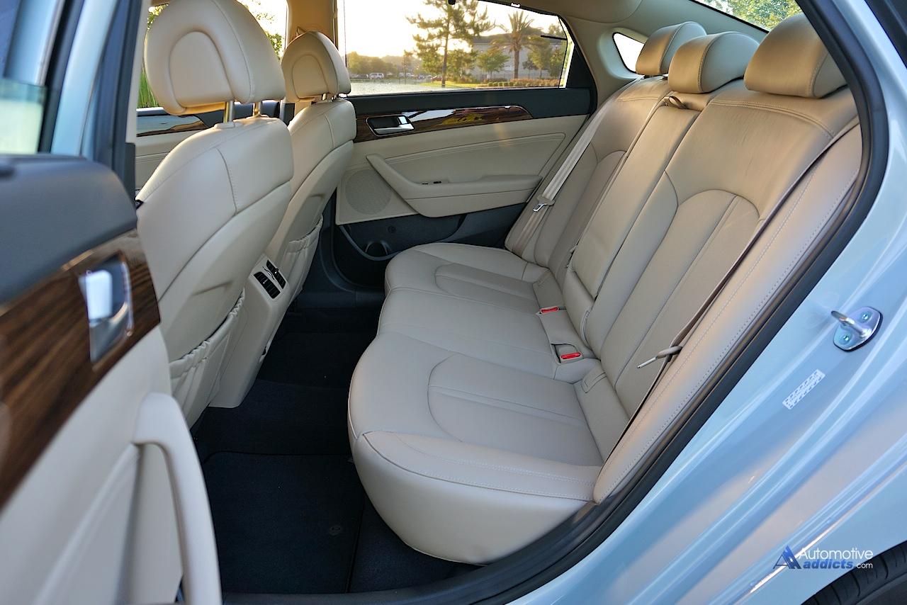 If you want a safe midsize sedan and appreciate technology, this. 2016 Hyundai Sonata Hybrid Limited Rear Seats Automotive Addicts