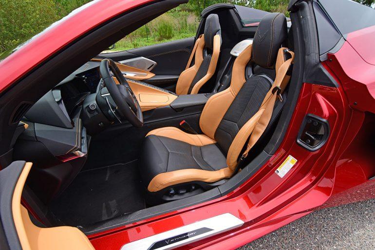2021 chevrolet corvette stingray c8 convertible two tone seats
