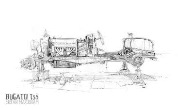 Bugatti Type35 – beneath the bodywork