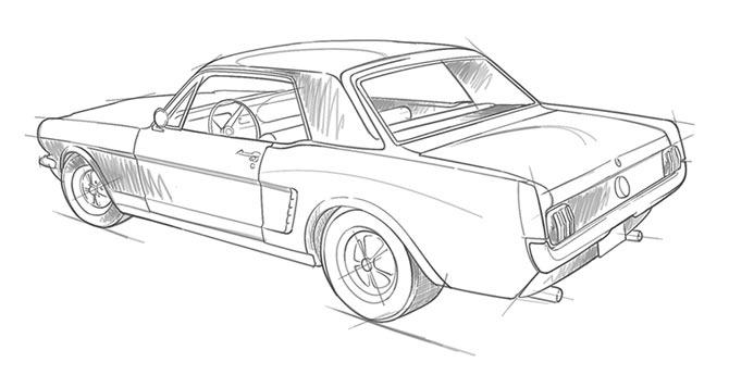 Classic Mustang Illustration