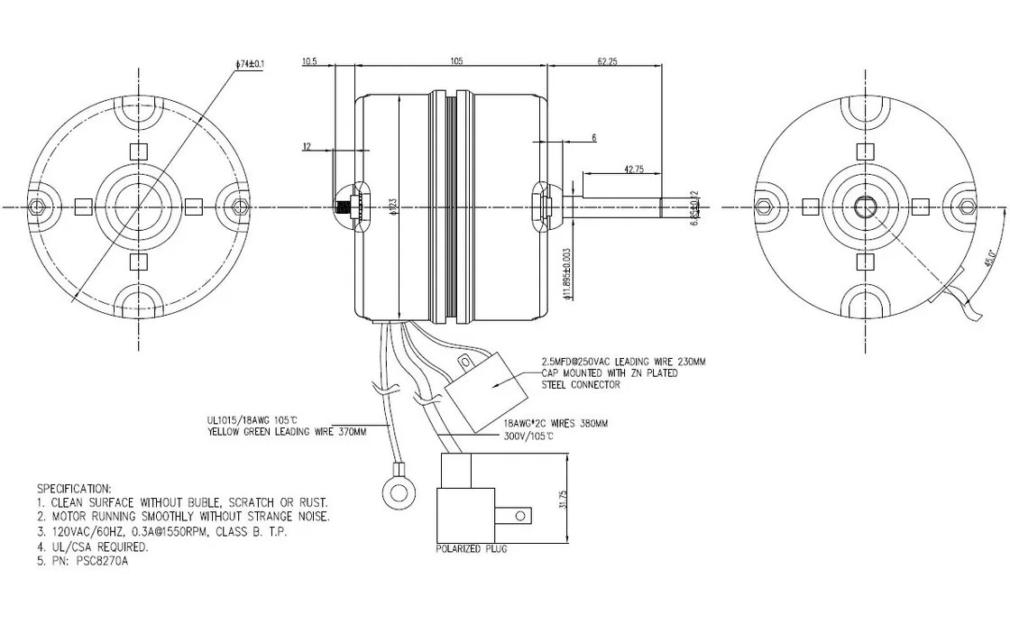 hight resolution of single phase psc motor wiring diagram jeffdoedesign com psc motor theory psc motor parts