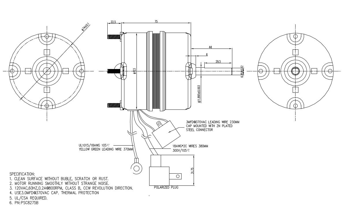 hight resolution of clean surface ac synchronous motor psc electric motor replacing fasco fans