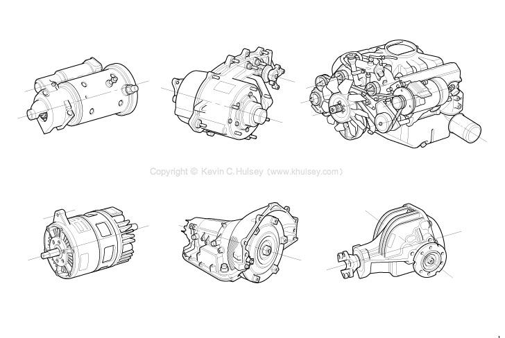 Automotive Line Drawings