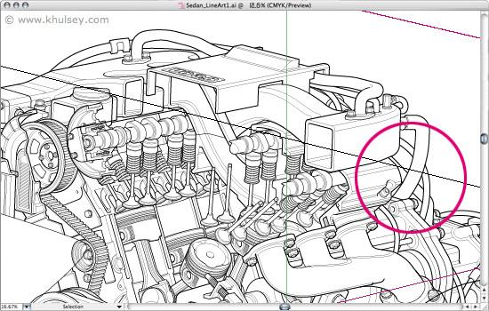Cutaway Drawings Of Cars Drawing