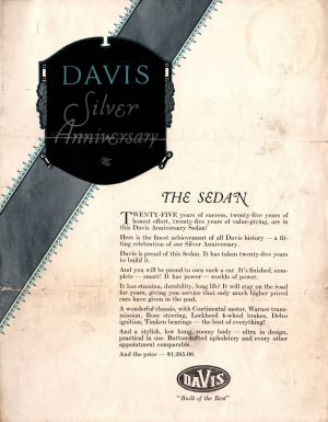1927 Davis Brochure