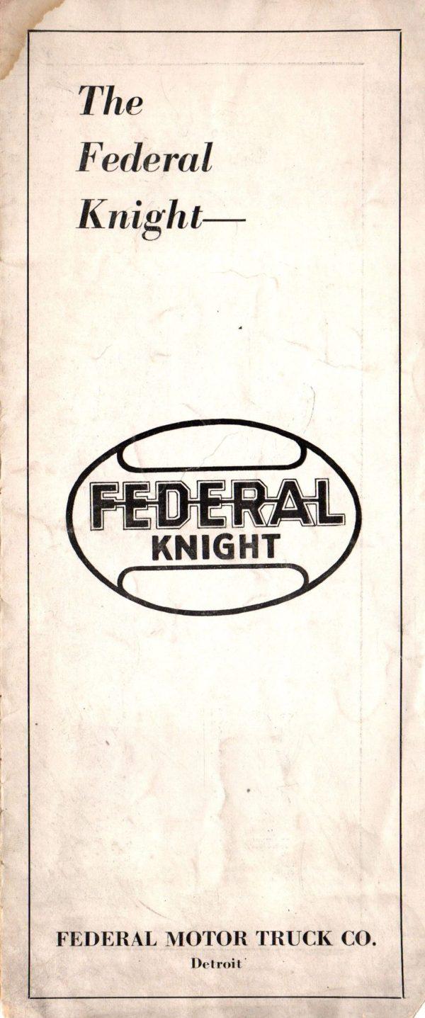 1924 Federal Truck Brochure