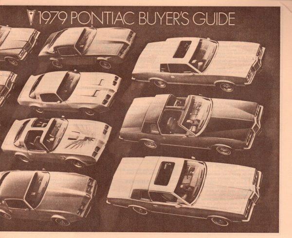 1979 Pontiac Buyers Guide Brochure