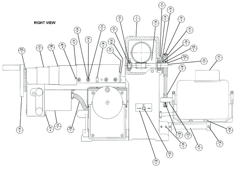 Brake Lathe Parts Breakdown, for Accuturn model 8922