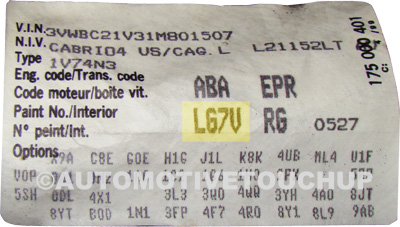 2006 A4 Fuse Box Numbers Volkswagen Paint Code Locations Touch Up Paint