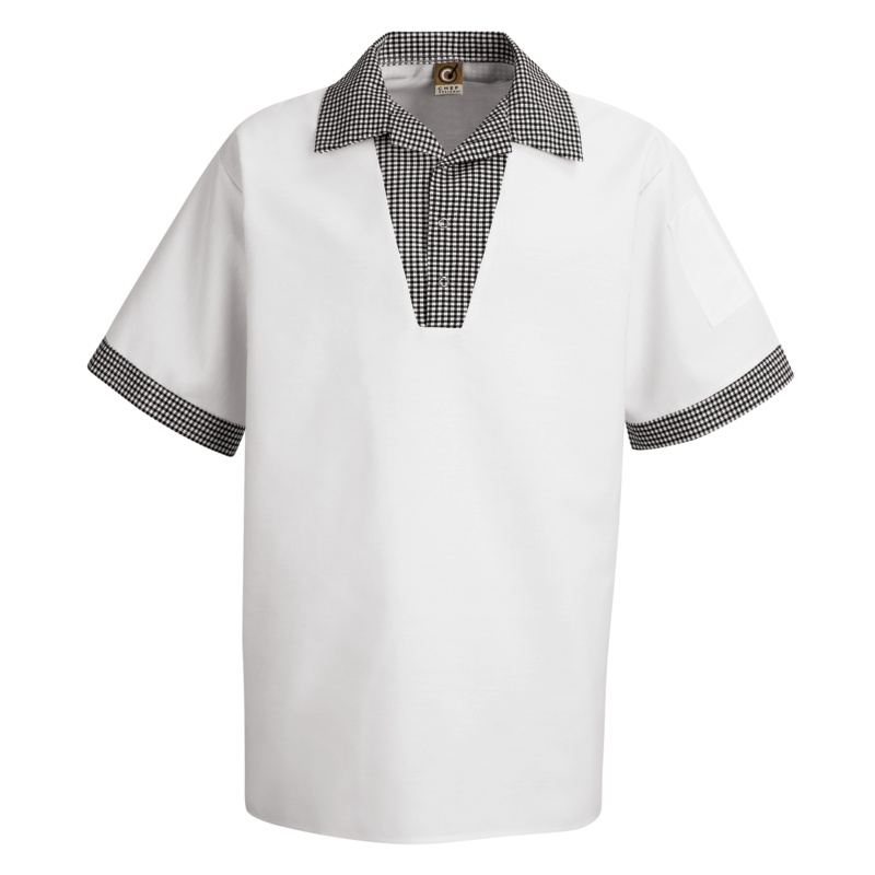 Chef Designs Unisex Snappy VNeck Chef Shirt  SP06WH