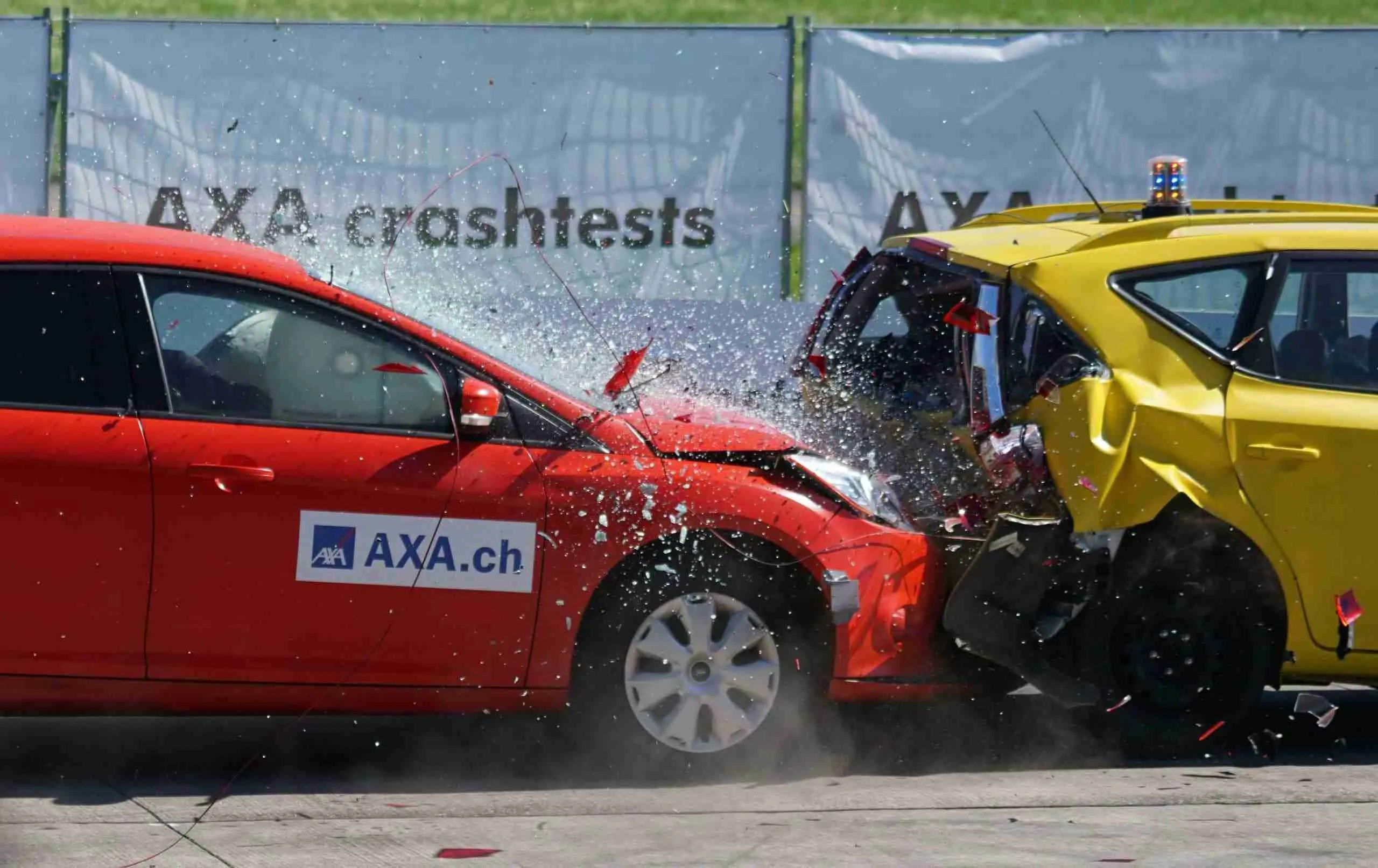 two cars crash