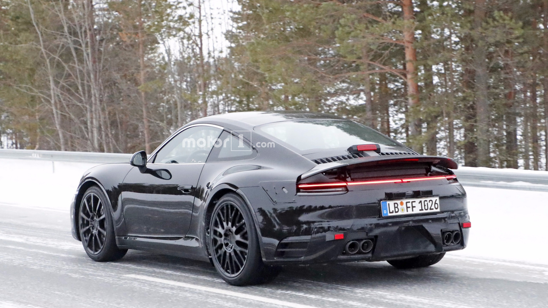 Updated Spy Photos 2019 Porsche 911 992 With Mission E