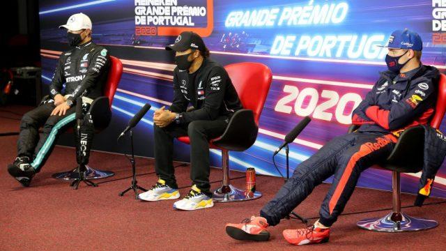 Hamilton, Bottas e Verstappen