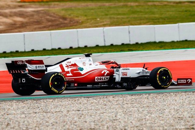 Afa Romeo C41 in pista
