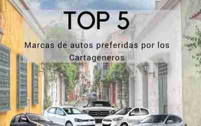 Top 5 marcas de autos mas vendidas en Cartagena 2017