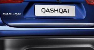 moldura inferior porton trasero Nissan Qashqai Nuevo