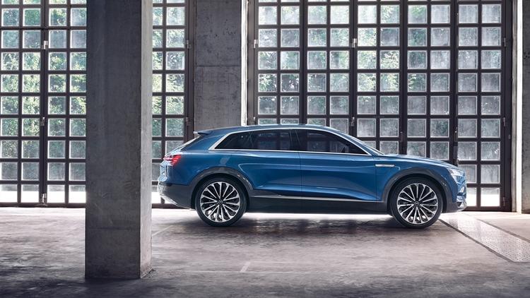 Audi e-tron ih here – pure electric production