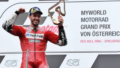 Andrea Dovizioso le ganó el GP de Austria a Marc Márquez en la última vuelta