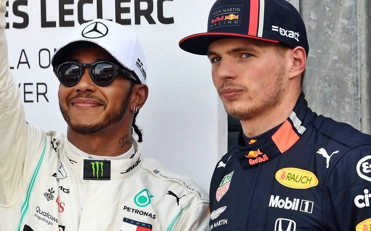 Max Verstappen y Lewis Hamilton