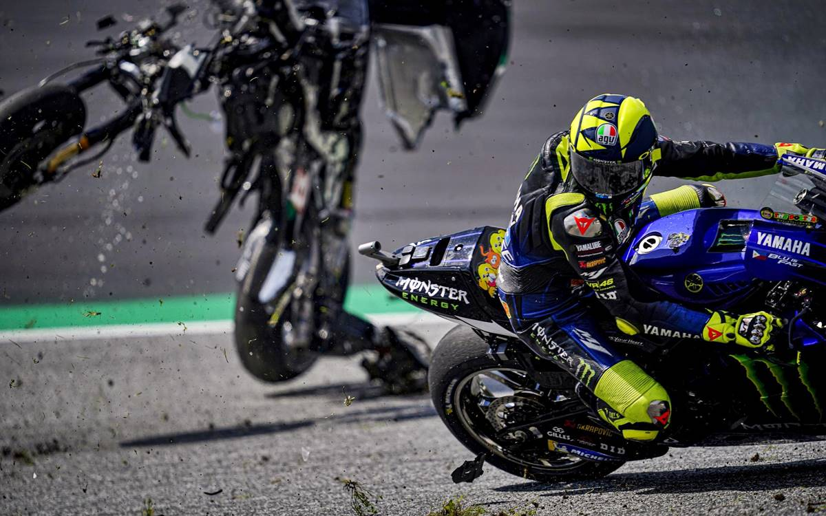 Valentino Rossi accidente 1