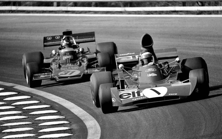Jackie Stewart y Emerson Fittipaldi