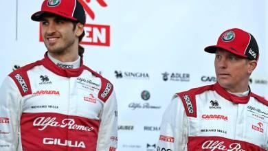 Kimi Raikkonen and Antonio Giovanazzi