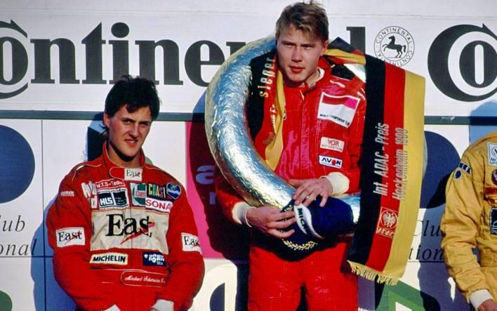 Mika Häkkinen y Michael Schumacher