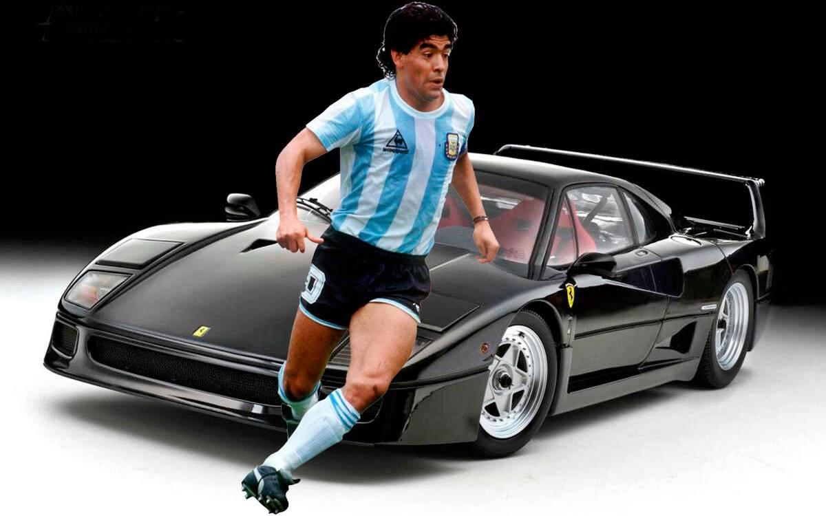 Diego Maradona The Black Ferrari F40 That Will Go Down In History Automundo