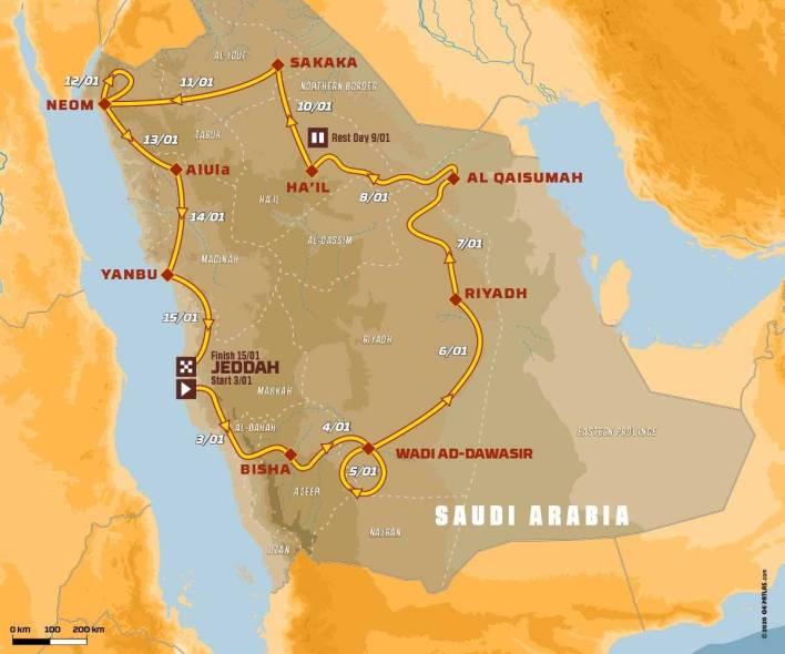 Dakar 2021 nueva ruta