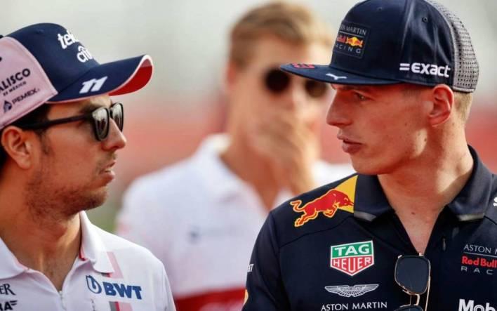 Max Verstappen y Checo Pérez