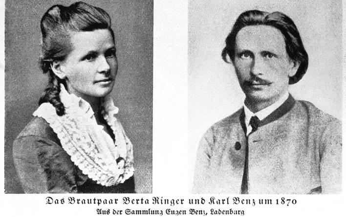 Bertha y Carl Benz.