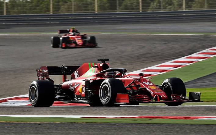 Charles Leclerc and Carlos Sainz