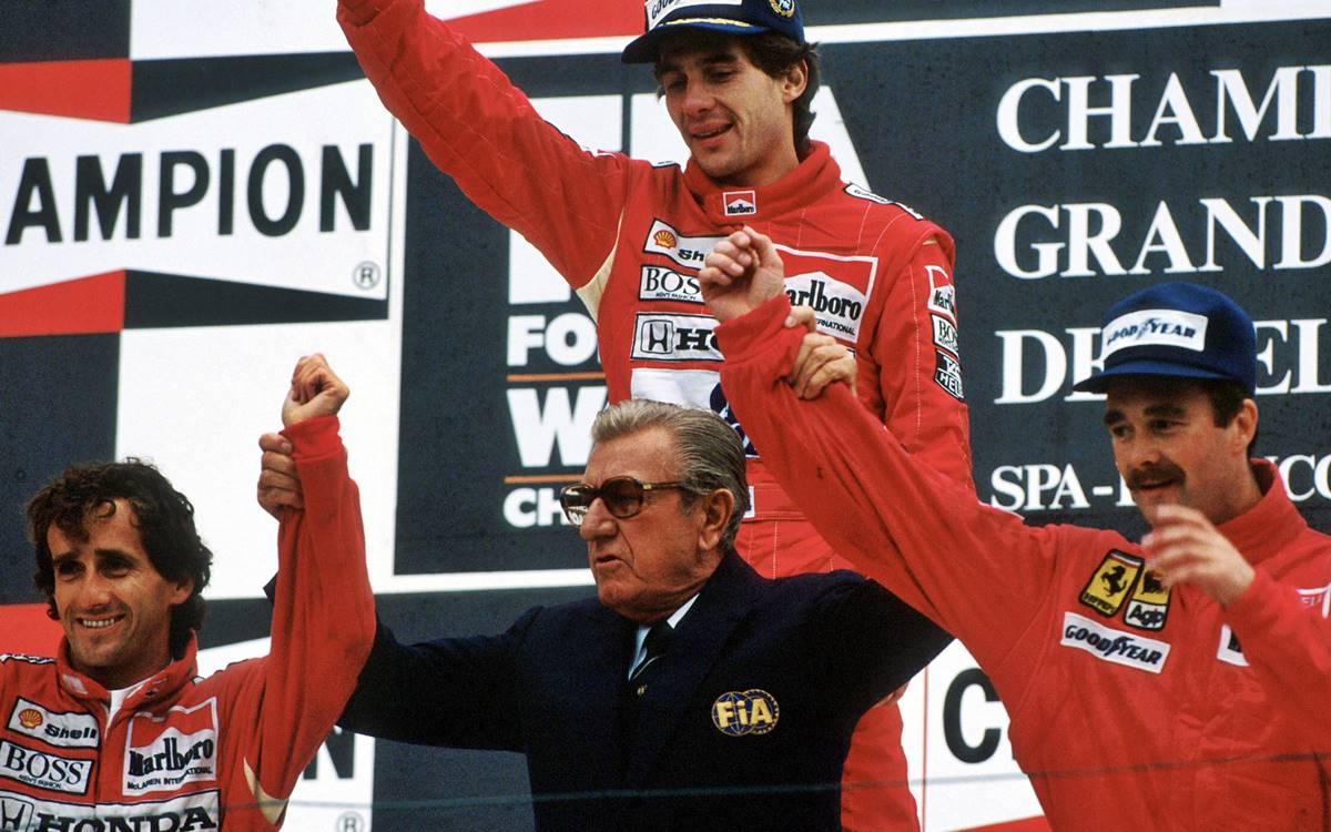 Jean Marie Balestre y Ayrton Senna