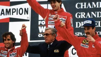 Jean Marie Balestre and Ayrton Senna