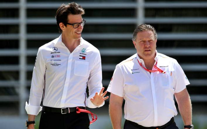 Toto Wolff y Zak Brown